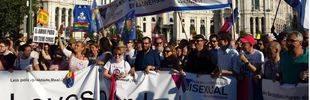 Cientos de miles de personas reclaman en Madrid la igualdad real