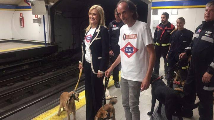 Cifuentes y Paunero en el Metro