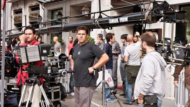 Rodaje cinematográfico en las calles de Madrid. (Archivo)