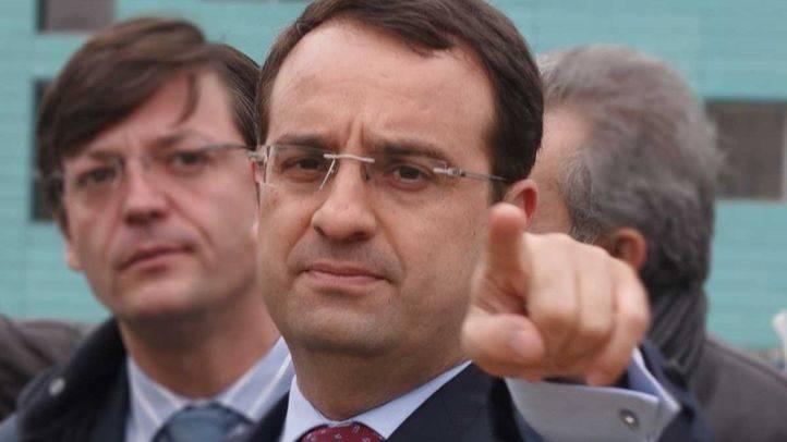 Daniel Ortiz cuando era alcalde de Móstoles.