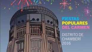 Cartel promocional de las fiestas del Carmen de Chamberí.