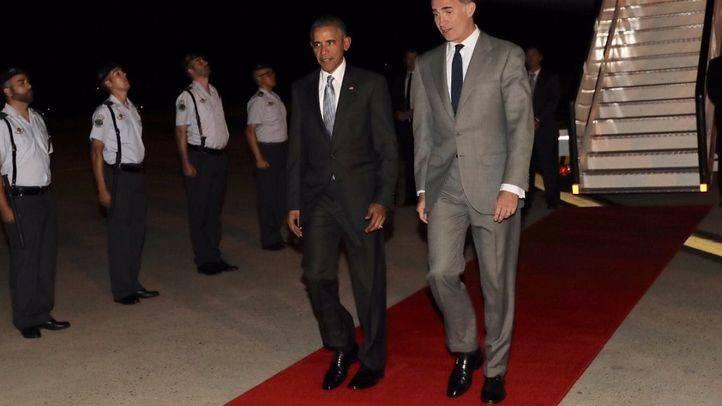 El rey recibe a Obama en Torrejón