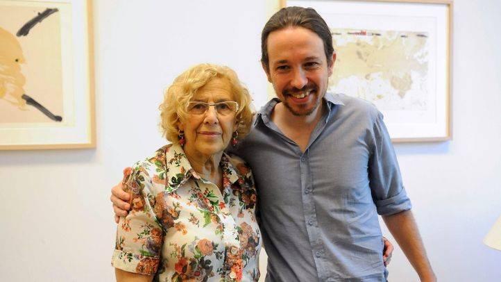 Pablo Iglesias recuerda a Carmena que es alcaldesa gracias a la