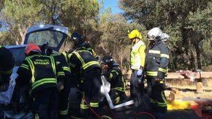 Grave una joven tras un choque frontal en El Pardo