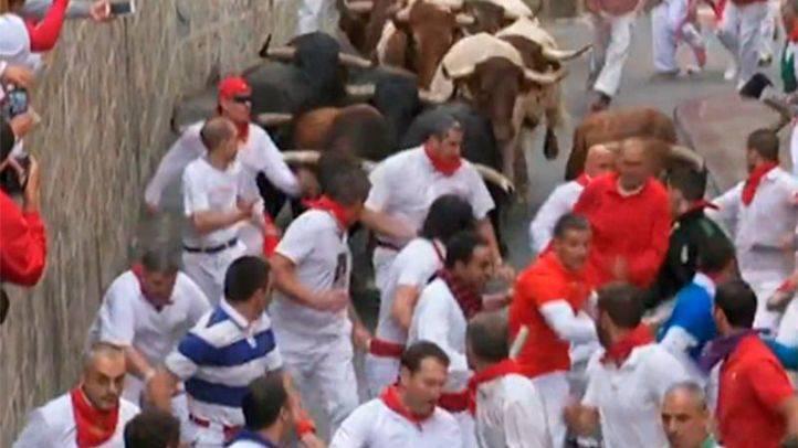 Herido leve un madrileño tras el séptimo encierro de San Fermín