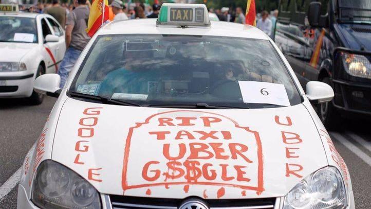 Los taxistas, molestos por la presencia de Uber en Moovit