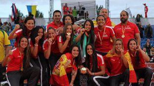 España, campeona del mundo de balonmano playa femenino