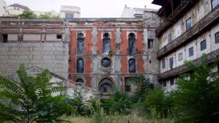 Frontón Beti-Jai, estadio de pelota vasca de finales del siglo XIX, en pleno barrio de Chamberí. (Archivo)