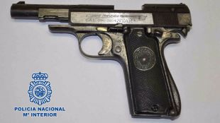 Arma utilizada por el asaltante