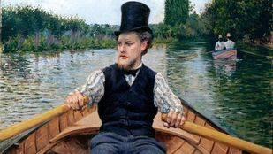 """Gustave Caillebotte, """"Remero con sombrero de copa"""", 1878. Colecci�n privada"""