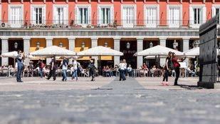 Las columnas de la Plaza Mayor, deterioradas por
