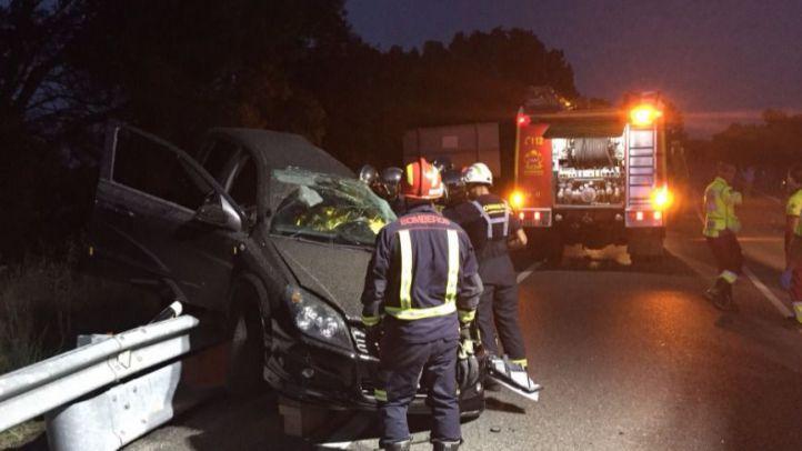 Dos fallecidos en la colisión de un turismo y una motocicleta en la M-505
