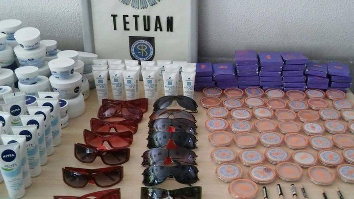 Gafas de sol y productos cosméticos falsificados