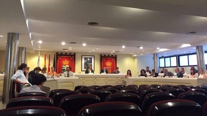 Pleno del Ayuntamiento de Majadahonda durante la aprobaci�n de los presupuestos municipales