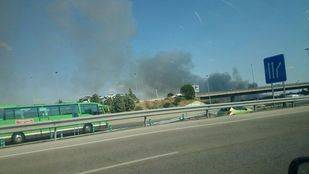 Incendio visto desde la A-6