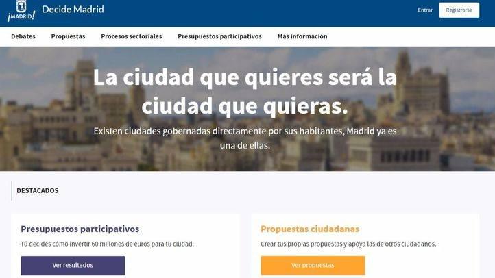 Reducen a la mitad el mínimo necesario para consultar en Decide Madrid