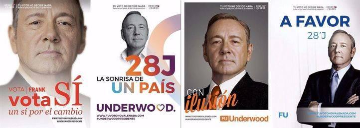Frank Underwood, de campa�a en Madrid a lo 26-J