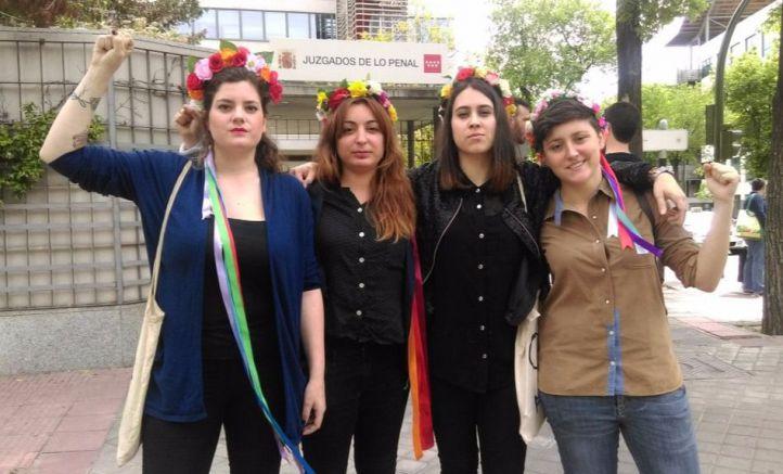 Activistas de Femen, en los juzgados
