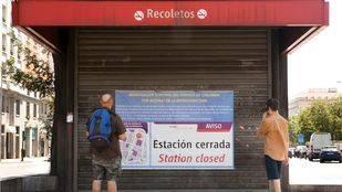 Cerrada por obras la estación de Recoletos