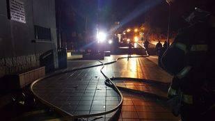 Incendio en el polideportivo de la Concepción