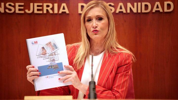 Cristina Cifuentes, en la rueda de prensa posterior al Consejo de Gobierno de este martes.
