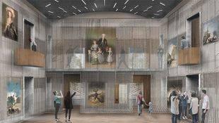 Infografía de la estancia principal del nuevo palacio del Capricho