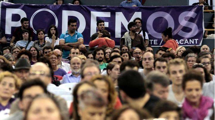 Asamblea de Podemos en Vistalegre (Archivo)