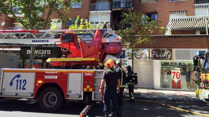 Incendio en la calle Alcalá
