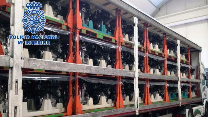 Recuperados 200 motores y dos camiones robados en Arganda del Rey