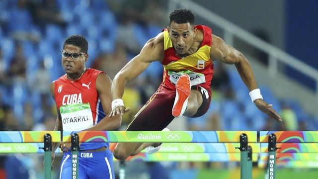 Orlando Ortega gana la plata en 110 metros vallas