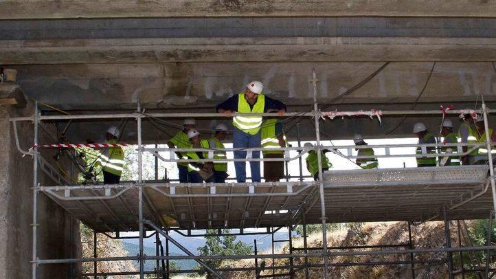 Obras realizadas sobre el puente de la M-634