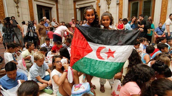 Madrid despide a los 248 niños saharauis acogidos durante el verano