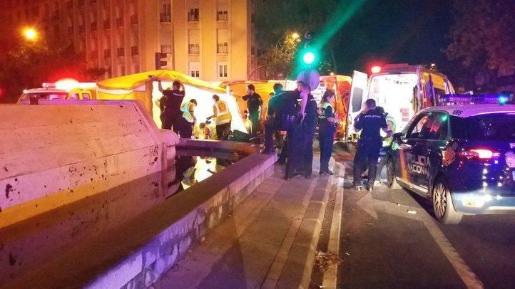 Accidente en la Glorieta de Bilbao
