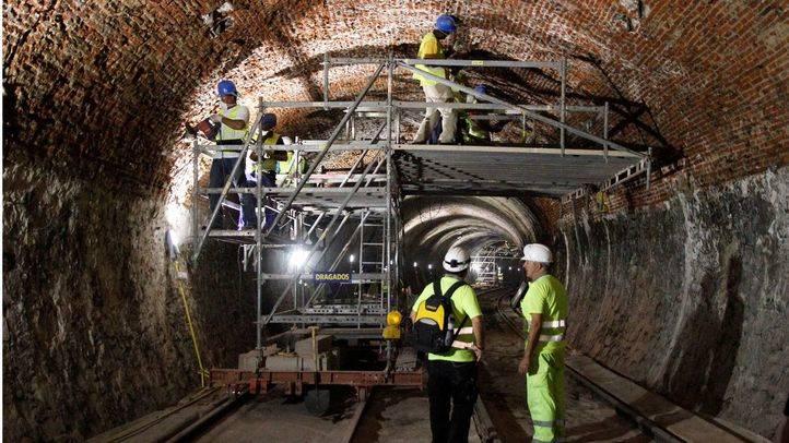 Las obras de la línea 1 de Metro, ejecutadas al 36%