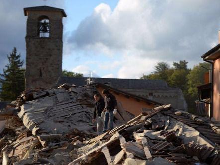 Imagen de una zona afectada del terremoto