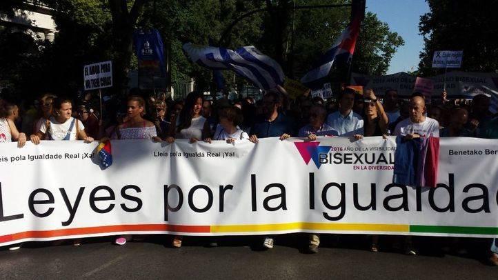 Pancarta de cabecera de la marcha del Orgullo 2016