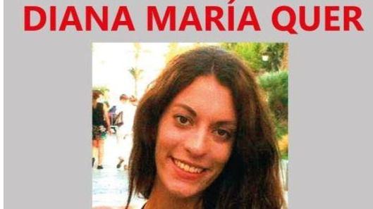 Cartel de la desaparecida Diana Mar�a Quer L�pez-Pinel
