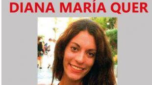 Cartel de la desaparecida Diana María Quer López-Pinel