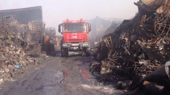 Comienzan las labores finales de extinción del incendio de Chiloeches