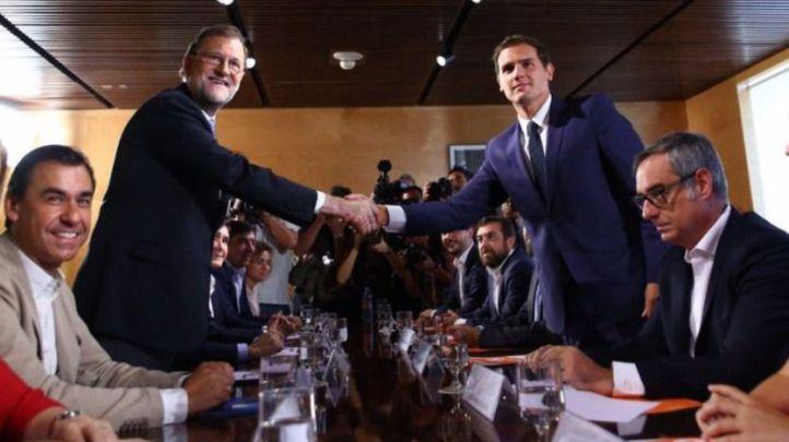 Rajoy y Rivera sellan su acuerdo
