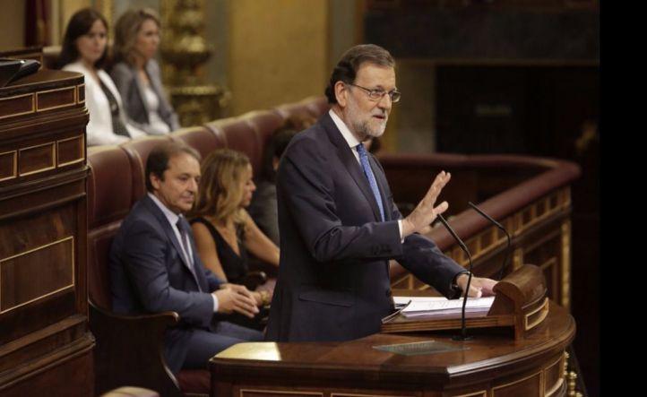 Rajoy, en la primera sesi�n de su investidura