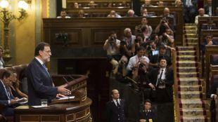 Rajoy en el Congreso en la sesión de investidura