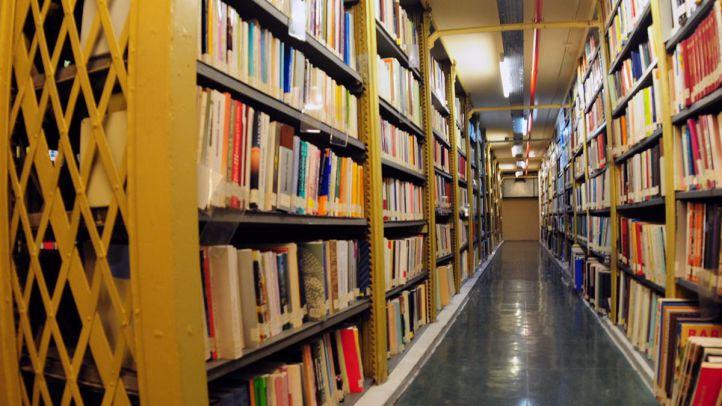 Libros en la biblioteca Nacional