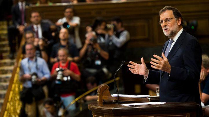 Mariano Rajoy pronuncia su discurso antes de la votación de investidura