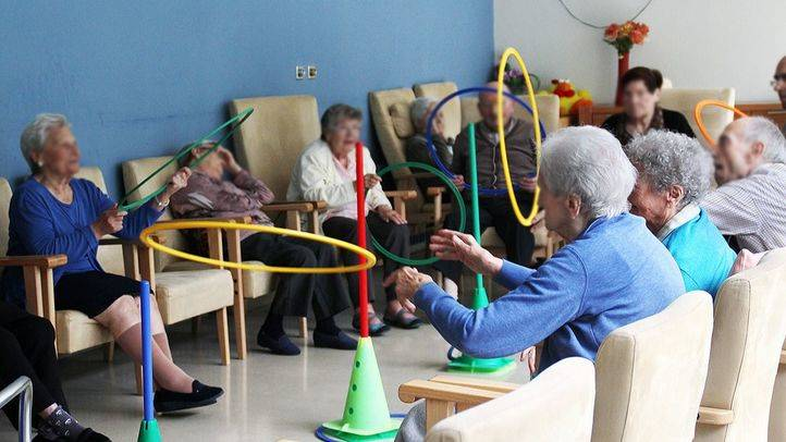 Aula de psicomotricidad de un centro de Madrid que trata a ancianos con Alzheimer (Archivo)