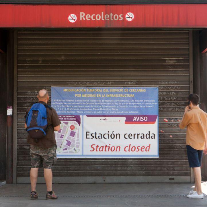 La estación de Recoletos reabre tras las obras del túnel