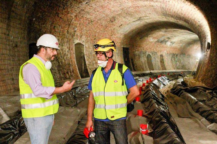 Visita a las obras de la línea 1 de Metro