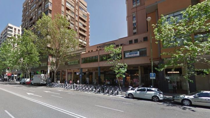 Calle Orense, en la que se encuentra la discoteca desalojada