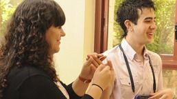 Javier García, primer erasmus con sordoceguera: