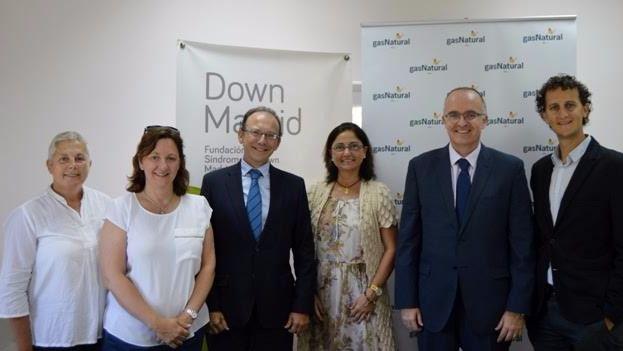 Firma del acuerdo de colaboración de Gas Natural con la Fundación Síndrome de Down de Madrid